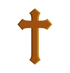 Cross religion christianity icon vector