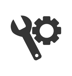 Tool gear spanner isolated vector