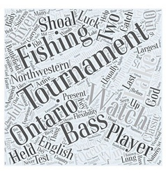 Bass fishing tournaments word cloud concept vector