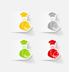 Realistic design element cook vector