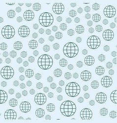 Globe earth geography element seamless pattern vector