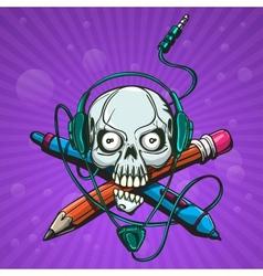 Skull artist vector