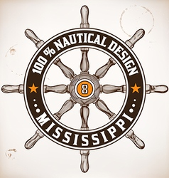 Nautical design vector