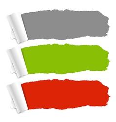 Color Torn Paper Set vector image