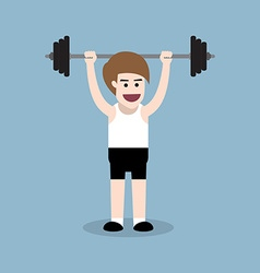 Barbell behind the neck press vector