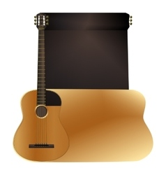 Background acoustic guitar vector