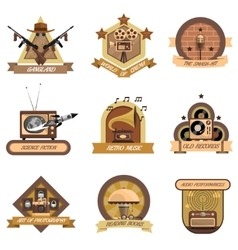 Retro emblems set vector