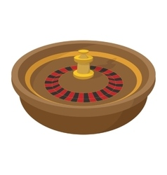 Casino symbol roulette cartoon icon vector