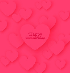 Greeting card happy valentines day with flat vector