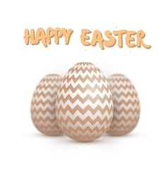 Realistic easter egg set happy easter vector