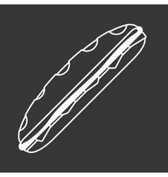 Sandwich icon design vector