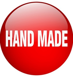 Hand made red round gel isolated push button vector