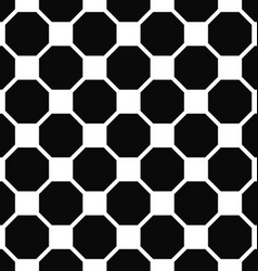 Abstract seamless black and white octagon pattern vector