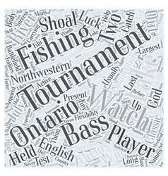 Bass fishing tournaments word cloud concept vector