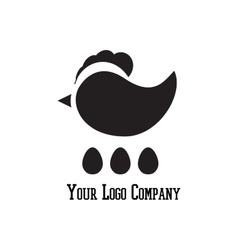 Cock sign branding corporate logo isolated vector image
