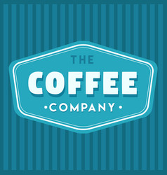 coffee company blue logo vector image vector image