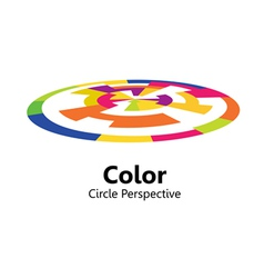 color circle perspective vector image vector image