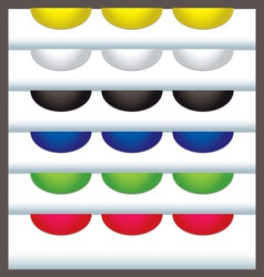 colourful web tabs vector image vector image