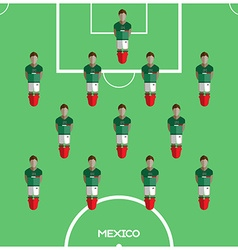 Computer game mexico football club player vector