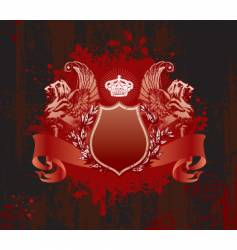 crown on grunge background vector image vector image