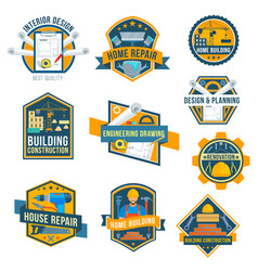 label icons of house repair work tools vector image vector image