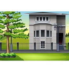 Modern house by the park vector image