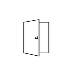 opened door icon vector image
