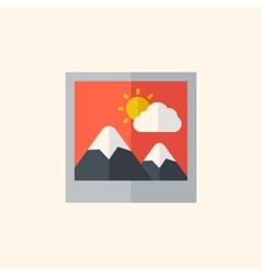 Photo flat icon vector