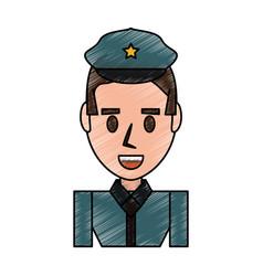 police officer cartoon vector image