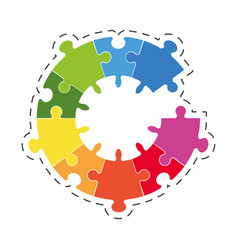 puzzle solution diagram image vector image