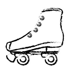 retro skate isolated icon vector image