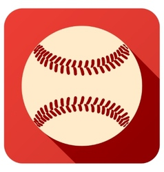 Sport icon with baseball ball in flat style vector image