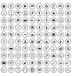 Webdesign sign icons set vector