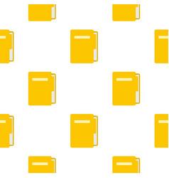 yellow file folder pattern seamless vector image vector image