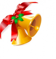 Christmas bells corner vector