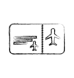 Ticket flight isolated icon vector