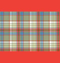 Coloured plaid shirting diagonal seamless fabric vector