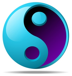 3d ying yang sign vector