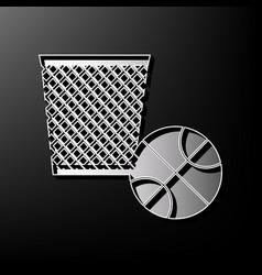 Trash sign   gray 3d printed vector