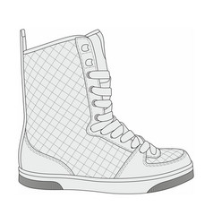 Modern stylish sneakers vector