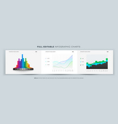 Full editable infographic chart template vector