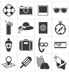 Travel and summer icon vector