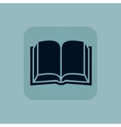 Pale blue book icon vector