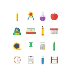 Modern flat icon collection on vector