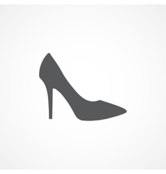 Woman shoe icon vector