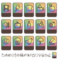 Tab icons vector