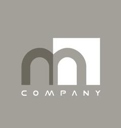 Alphabet small letter m logo icon design vector