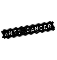 Anti cancer rubber stamp vector