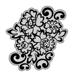 Black lace ornament vector image vector image