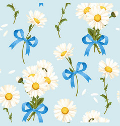 camomile seamless pattern vector image